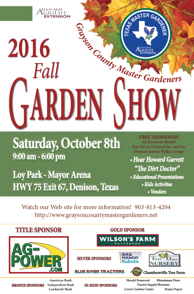 Join us at the Fall Garden Show in Denison!
